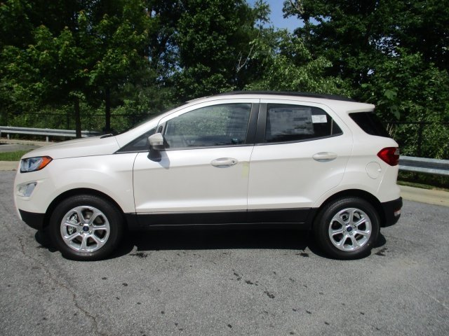 2018 White Platinum Clearcoat Metallic Ford EcoSport SE SUV FWD Automatic