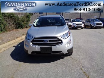 2018 Moondust Silver Metallic Ford EcoSport SE EcoBoost 1.0L I3 GTDi DOHC Turbocharged VCT Engine 4 Door SUV