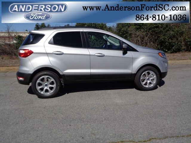 2018 Moondust Silver Metallic Ford EcoSport SE FWD 4 Door EcoBoost 1.0L I3 GTDi DOHC Turbocharged VCT Engine SUV