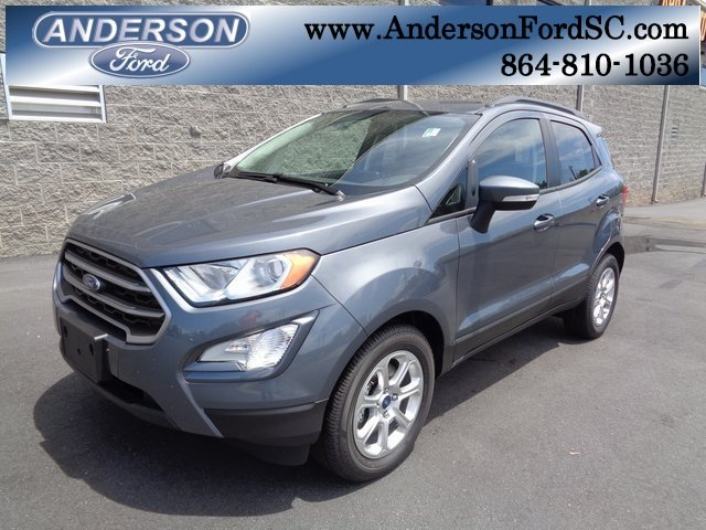 2018 Smoke Metallic Ford EcoSport SE FWD 4 Door SUV Automatic EcoBoost 1.0L I3 GTDi DOHC Turbocharged VCT Engine