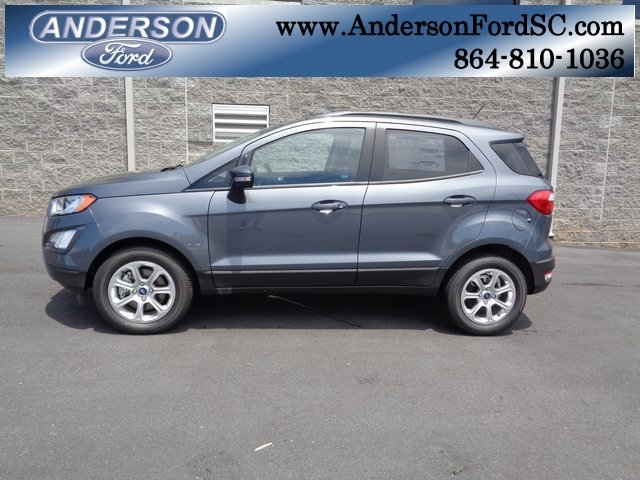 2018 Smoke Metallic Ford EcoSport SE EcoBoost 1.0L I3 GTDi DOHC Turbocharged VCT Engine Automatic FWD 4 Door