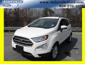 2018 Diamond White Ford EcoSport SE FWD 4 Door SUV EcoBoost 1.0L I3 GTDi DOHC Turbocharged VCT Engine Automatic