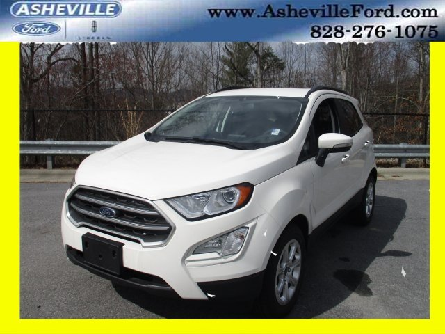 2018 Diamond White Ford EcoSport SE Automatic EcoBoost 1.0L I3 GTDi DOHC Turbocharged VCT Engine FWD SUV 4 Door