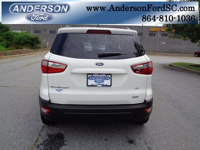 2018 Diamond White Ford EcoSport SE SUV FWD EcoBoost 1.0L I3 GTDi DOHC Turbocharged VCT Engine 4 Door