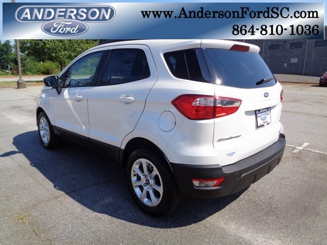 2018 White Platinum Clearcoat Metallic Ford EcoSport SE 4 Door SUV Automatic FWD EcoBoost 1.0L I3 GTDi DOHC Turbocharged VCT Engine
