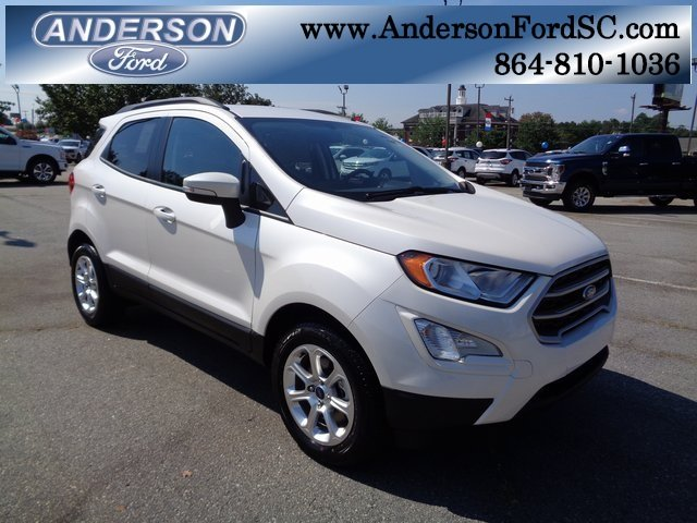 2018 White Platinum Clearcoat Metallic Ford EcoSport SE 4 Door FWD SUV Automatic