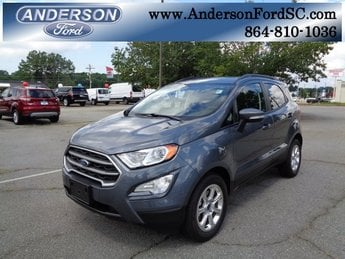 2018 Smoke Metallic Ford EcoSport SE 4 Door EcoBoost 1.0L I3 GTDi DOHC Turbocharged VCT Engine Automatic SUV FWD