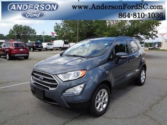 2018 Smoke Metallic Ford EcoSport SE EcoBoost 1.0L I3 GTDi DOHC Turbocharged VCT Engine SUV Automatic FWD