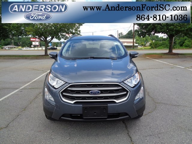 2018 Smoke Metallic Ford EcoSport SE 4 Door FWD SUV EcoBoost 1.0L I3 GTDi DOHC Turbocharged VCT Engine