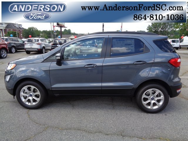 2018 Smoke Metallic Ford EcoSport SE SUV EcoBoost 1.0L I3 GTDi DOHC Turbocharged VCT Engine FWD Automatic