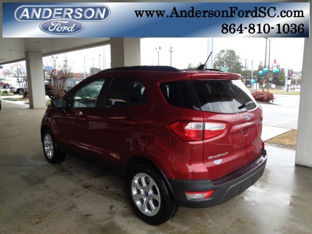 2018 Ruby Red Metallic Ford EcoSport SE FWD SUV EcoBoost 1.0L I3 GTDi DOHC Turbocharged VCT Engine