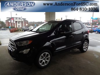 2018 Shadow Black Ford EcoSport SE SUV Automatic EcoBoost 1.0L I3 GTDi DOHC Turbocharged VCT Engine FWD 4 Door