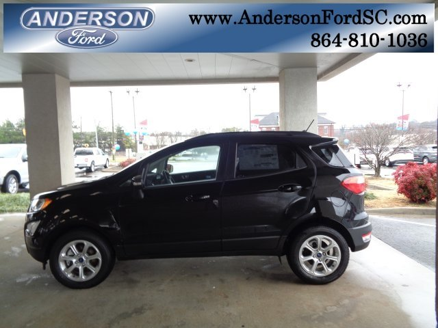 2018 Shadow Black Ford EcoSport SE 4 Door EcoBoost 1.0L I3 GTDi DOHC Turbocharged VCT Engine Automatic