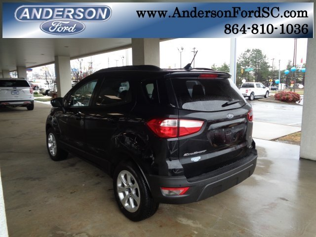 2018 Ford EcoSport SE SUV 4 Door EcoBoost 1.0L I3 GTDi DOHC Turbocharged VCT Engine FWD
