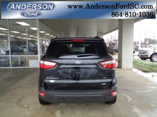 2018 Shadow Black Ford EcoSport SE Automatic EcoBoost 1.0L I3 GTDi DOHC Turbocharged VCT Engine FWD SUV 4 Door