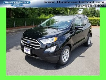 2018 Shadow Black Ford EcoSport SE EcoBoost 1.0L I3 GTDi DOHC Turbocharged VCT Engine 4 Door SUV Automatic FWD
