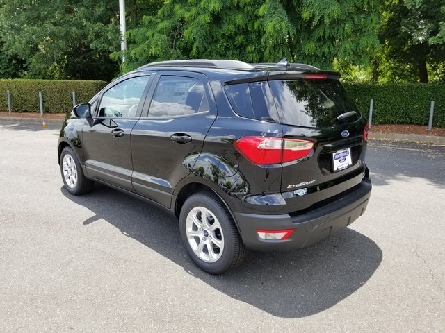 2018 Shadow Black Ford EcoSport SE 4 Door FWD EcoBoost 1.0L I3 GTDi DOHC Turbocharged VCT Engine SUV Automatic