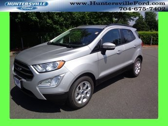 2018 Moondust Silver Metallic Ford EcoSport SE EcoBoost 1.0L I3 GTDi DOHC Turbocharged VCT Engine SUV 4 Door Automatic