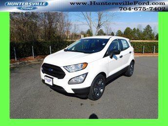 2019 Diamond White Ford EcoSport S 4 Door EcoBoost 1.0L I3 GTDi DOHC Turbocharged VCT Engine SUV FWD Automatic