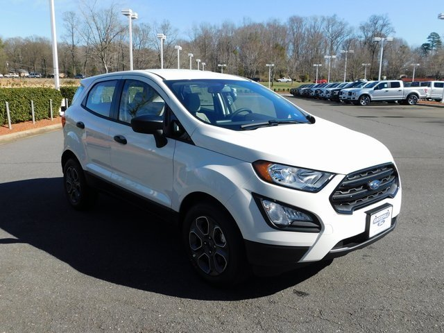 2019 Diamond White Ford EcoSport S FWD Automatic EcoBoost 1.0L I3 GTDi DOHC Turbocharged VCT Engine