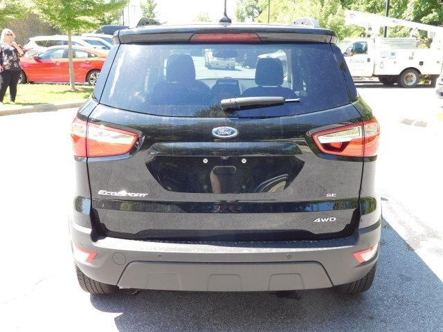 2018 Shadow Black Ford EcoSport SE SUV 4X4 4 Door Automatic I4 Engine
