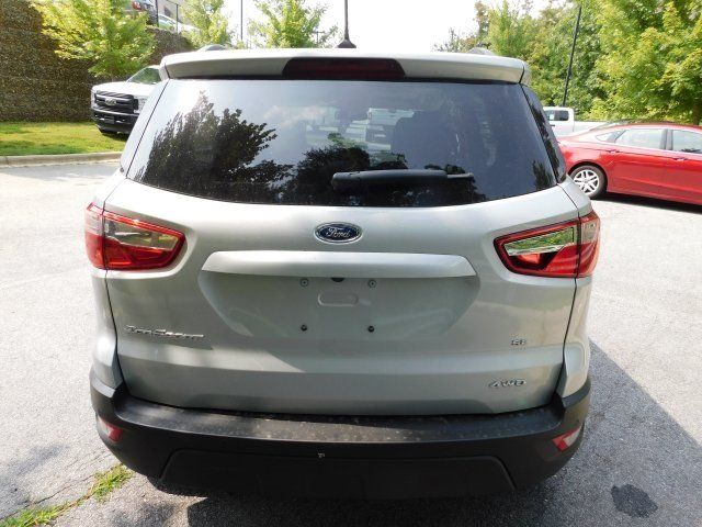 2018 Moondust Silver Metallic Ford EcoSport SE 4X4 SUV I4 Engine Automatic 4 Door