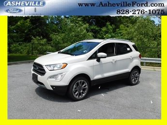 2018 White Platinum Clearcoat Metallic Ford EcoSport Titanium Automatic 4 Door I4 Engine