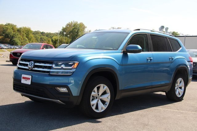 2019 Pacific_blue_met Volkswagen Atlas 3.6L V6 SE Automatic SUV FWD
