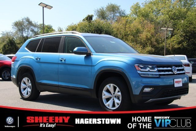 2019 Pacific_blue_met Volkswagen Atlas 3.6L V6 SE w/Technology SUV 4 Door Automatic