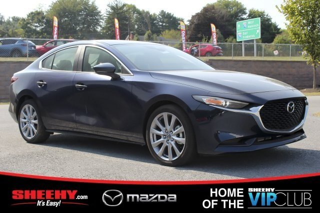 2019 Deep Crystal Blue Mica Mazda Mazda3 w/Preferred Pkg 2.5L 4 cyls Engine Automatic Sedan 4 Door FWD