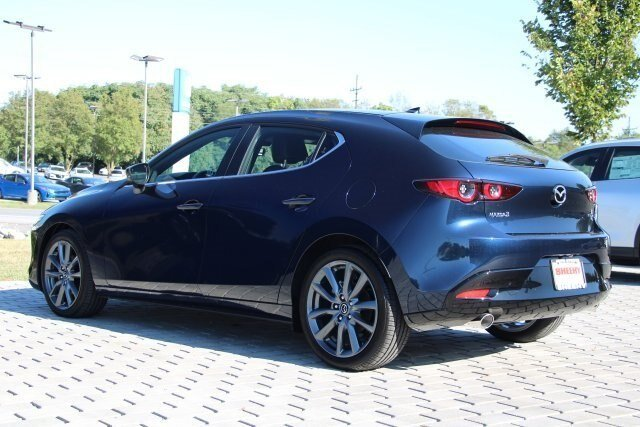 2019 Deep Crystal Blue Mica Mazda Mazda3 w/Preferred Pkg 2.5 L Engine Hatchback 4 Door Automatic