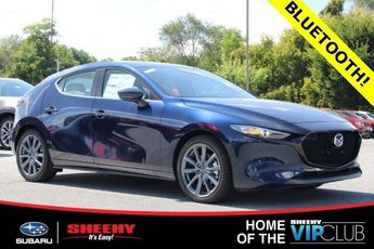 2019 Deep Crystal Blue Mica Mazda Mazda3 AWD 4 Door Hatchback 2.5L 4 cyls Engine Automatic