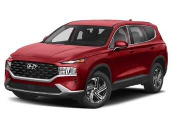 2021 Calypso Red Hyundai Santa Fe SE SUV 2.5L I4 Engine 4 Door
