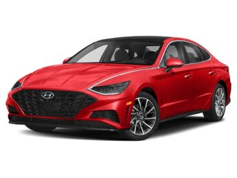2021 Calypso Red Hyundai Sonata Limited 4 Door Automatic FWD I4 Engine Car