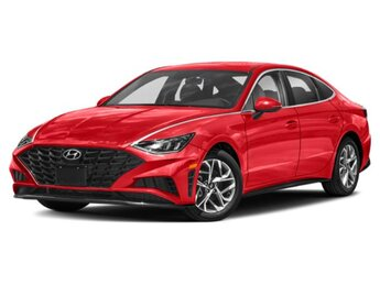 2021 Calypso Red Hyundai Sonata SEL Plus FWD 1.6L I4 Engine Car