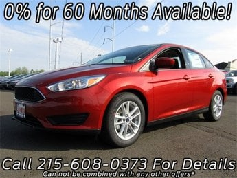 2018 Chili Pepper Red Ford Focus SE 4 Door FWD Sedan
