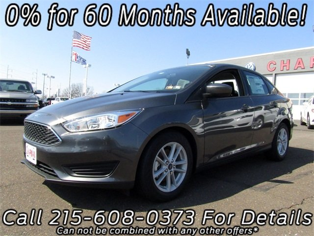 2018 Magnetic Metallic Ford Focus SE Sedan I4 Engine Automatic FWD