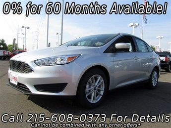 2018 Ingot Silver Metallic Ford Focus SE I4 Engine Sedan Automatic