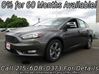 2018 Ford Focus SE EcoBoost 1.0L I3 GTDi DOHC Turbocharged VCT Engine Sedan 4 Door FWD