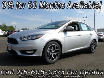 2018 Ingot Silver Metallic Ford Focus SEL I4 Engine Sedan 4 Door Automatic