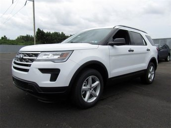 2018 Oxford White Ford Explorer Base SUV Automatic 2.3L I4 Engine 4X4