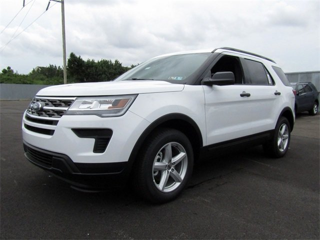 2018 Oxford White Ford Explorer Base SUV Automatic 4 Door 2.3L I4 Engine