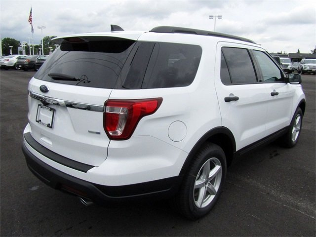 2018 Oxford White Ford Explorer Base SUV 4 Door Automatic 2.3L I4 Engine