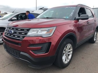 2017 Ruby Red Metallic Tinted Clearcoat Ford Explorer Base SUV AWD Intercooled Turbo Premium Unleaded I-4 2.3 L/140 Engine