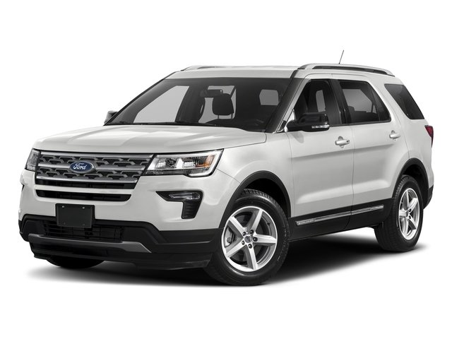 2018 Oxford White Ford Explorer XLT 4X4 4 Door Automatic 3.5L V6 Ti-VCT Engine SUV