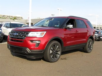 2018 Ruby Red Metallic Tinted Clearcoat Ford Explorer XLT Automatic SUV 4 Door