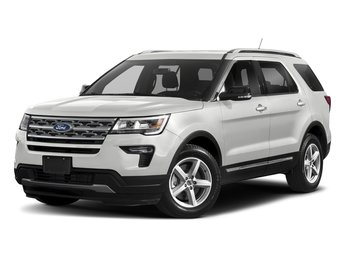 2018 Oxford White Ford Explorer XLT 4X4 3.5L V6 Ti-VCT Engine Automatic 4 Door SUV