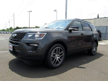 2018 Magnetic Metallic Ford Explorer Sport 4X4 4 Door Automatic SUV