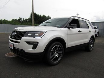 2018 White Platinum Metallic Tri-Coat Ford Explorer Sport Automatic 3.5L Engine 4X4 4 Door