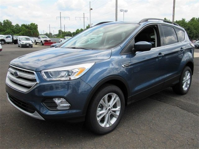 2018 Blue Metallic Ford Escape SEL 4 Door Automatic SUV EcoBoost 1.5L I4 GTDi DOHC Turbocharged VCT Engine
